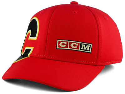 Calgary Flames Reebok NHL Current Structured Flex Cap