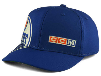 Edmonton Oilers Reebok NHL Current Structured Flex Cap