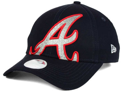 Atlanta Braves New Era MLB Women's Glitter Glam 9FORTY Strapback Cap