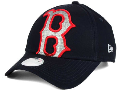 Boston Red Sox New Era MLB Women's Glitter Glam 9FORTY Strapback Cap