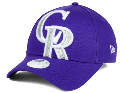 Colorado Rockies New Era MLB Women's Glitter Glam 9FORTY Strapback Cap