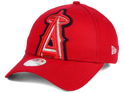 Los Angeles Angels New Era MLB Women's Glitter Glam 9FORTY Strapback Cap