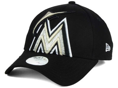 Miami Marlins New Era MLB Women's Glitter Glam 9FORTY Strapback Cap