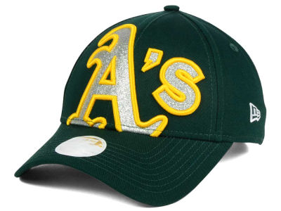 Oakland Athletics New Era MLB Women's Glitter Glam 9FORTY Strapback Cap