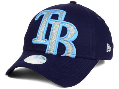Tampa Bay Rays New Era MLB Women's Glitter Glam 9FORTY Strapback Cap