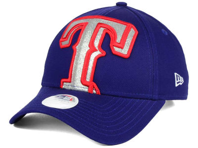 Texas Rangers New Era MLB Women's Glitter Glam 9FORTY Strapback Cap