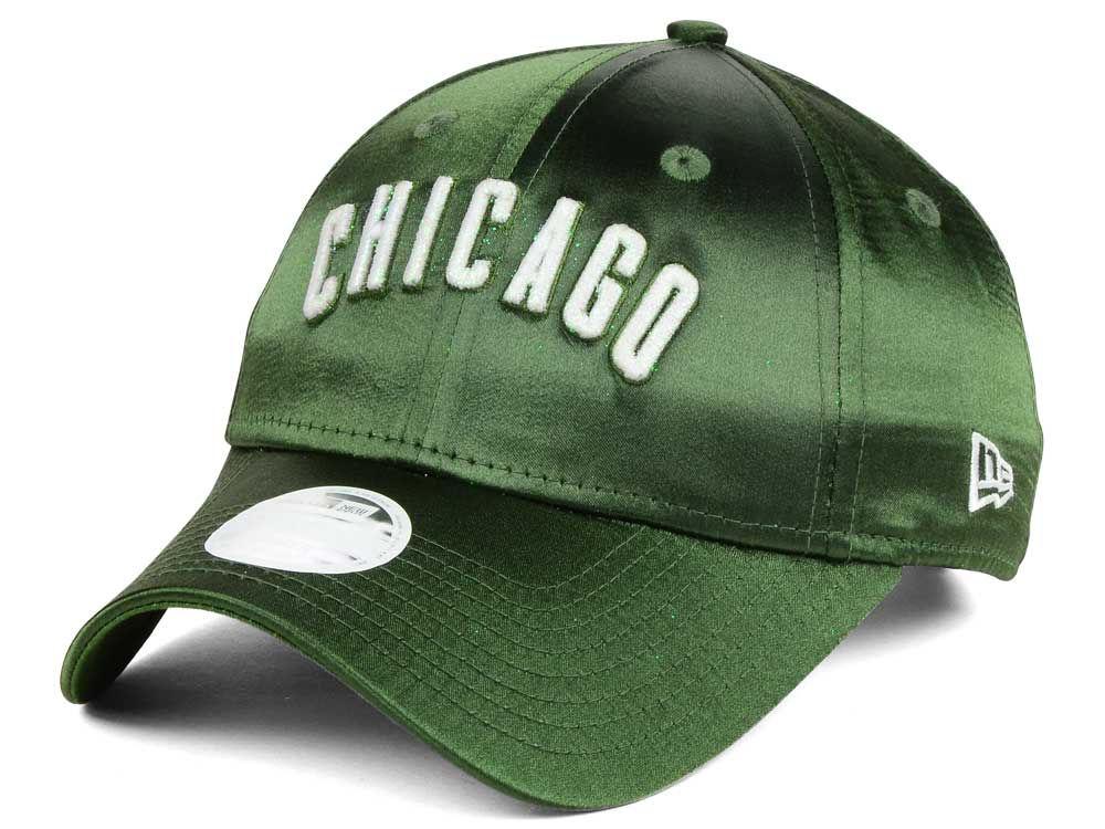 75d003b2c11 Chicago Cubs New Era MLB Satin Team Charmer 9FORTY Strapback Cap ...