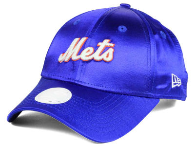 New York Mets New Era MLB Satin Team Charmer 9FORTY Strapback Cap