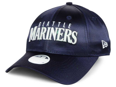 Seattle Mariners New Era MLB Satin Team Charmer 9FORTY Strapback Cap
