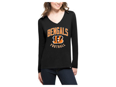 Cincinnati Bengals '47 NFL Women's Splitter Arch Long Sleeve T-Shirt