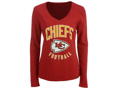 Kansas City Chiefs '47 NFL Women's Splitter Arch Long Sleeve T-Shirt