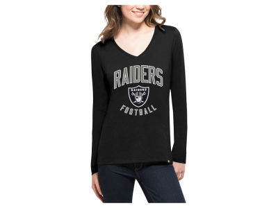 Oakland Raiders '47 NFL Women's Splitter Arch Long Sleeve T-Shirt