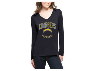 Los Angeles Chargers '47 NFL Women's Splitter Arch Long Sleeve T-Shirt