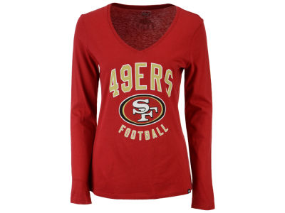 San Francisco 49ers '47 NFL Women's Splitter Arch Long Sleeve T-Shirt