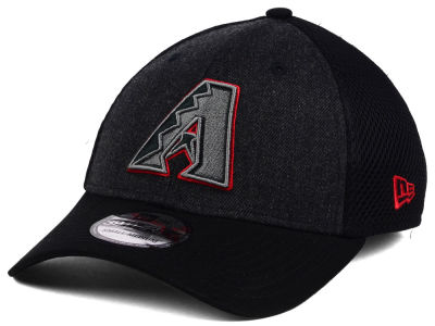 Arizona Diamondbacks New Era MLB Black Heathered Neo 39THIRTY Cap