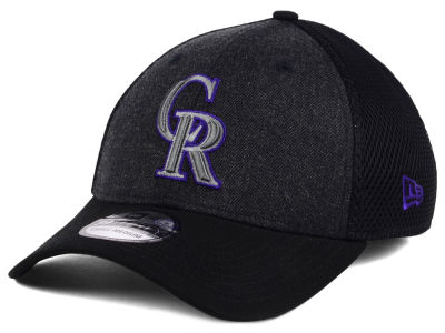 Colorado Rockies New Era MLB Black Heathered Neo 39THIRTY Cap