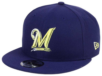 Milwaukee Brewers New Era MLB Color Dim 9FIFTY Snapback Cap
