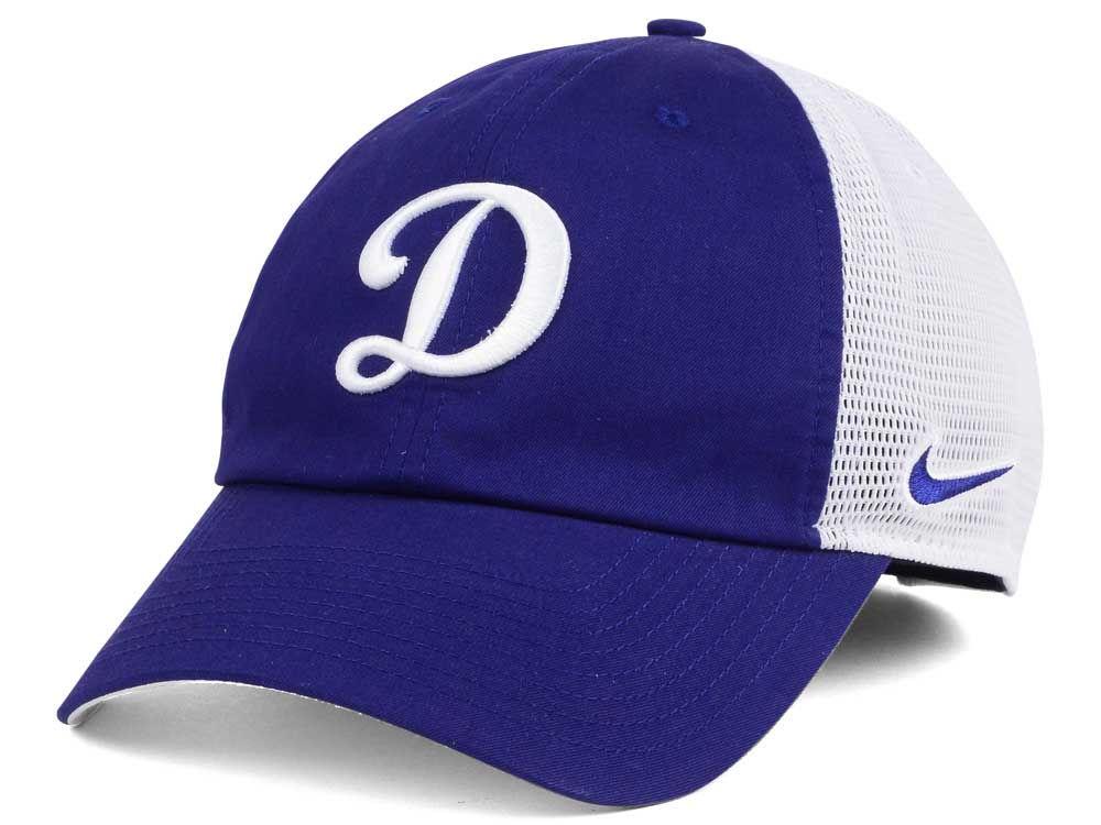 Los Angeles Dodgers Nike MLB Dri-Fit Mesh Swoosh Adjustable Cap ... b9351fdb7e1