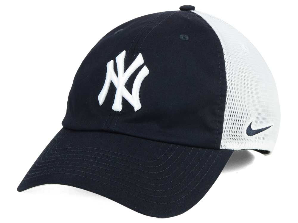 55563c7d419 New York Yankees Nike MLB Dri-Fit Mesh Swoosh Adjustable Cap