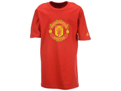 Manchester United Club Team Youth Crest Logo T-Shirt