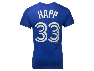 Toronto Blue Jays J.A. Happ Majestic MLB Men's Official Player T-Shirt