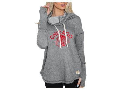Chicago Blackhawks NHL Women's Glitter Pullover Sweatshirt