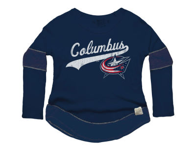 Columbus Blue Jackets NHL Women's Faceoff Thermal Long Sleeve T-Shirt
