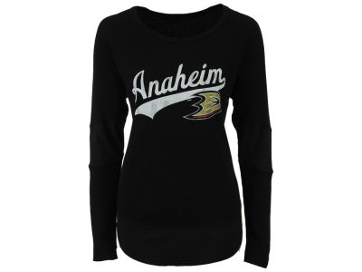 Anaheim Ducks Retro Brand NHL Women's Faceoff Thermal Long Sleeve T-Shirt