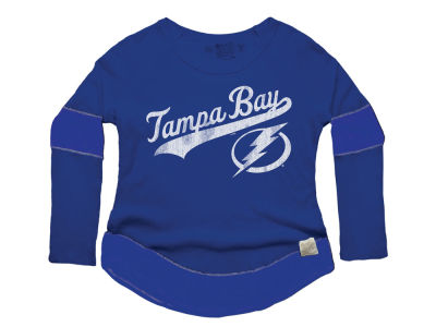 Tampa Bay Lightning Retro Brand NHL Women's Faceoff Thermal Long Sleeve T-Shirt