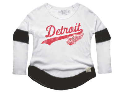 Detroit Red Wings Retro Brand NHL Women's Faceoff Thermal Long Sleeve T-Shirt