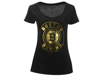 Boston Bruins NHL Women's Circle Foil T-Shirt