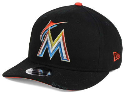 Miami Marlins New Era MLB Team Rustic 9FIFTY Snapback Cap