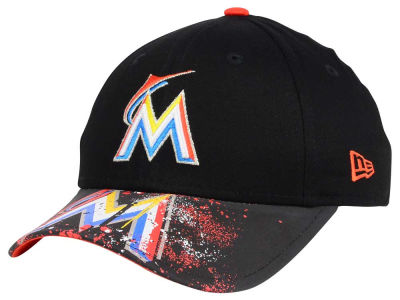 Miami Marlins MLB Youth Splatter Vize Snapback Cap