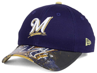 Milwaukee Brewers NCAA Youth Splatter Vize Snapback Cap