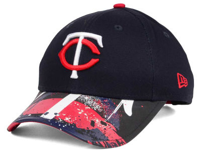 Minnesota Twins New Era MLB Youth Splatter Vize Snapback Cap