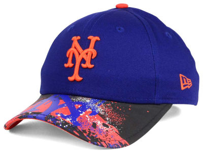 New York Mets NCAA Youth Splatter Vize Snapback Cap