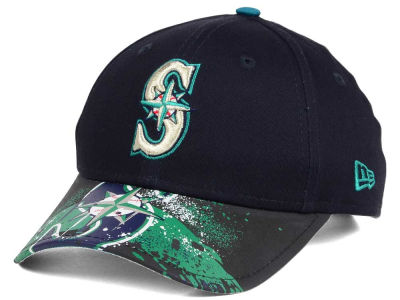 Seattle Mariners New Era MLB Youth Splatter Vize Snapback Cap