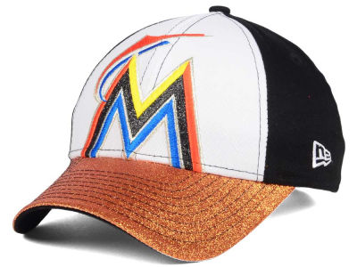 Miami Marlins New Era MLB Youth Shimmer Shine Adjustable Cap