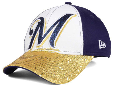 Milwaukee Brewers MLB Youth Shimmer Shine Adjustable Cap