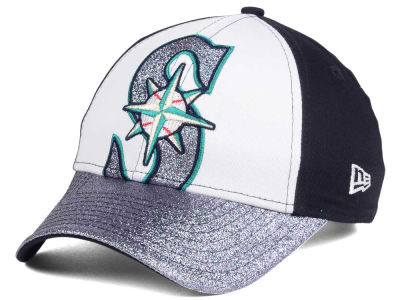 Seattle Mariners MLB Youth Shimmer Shine Adjustable Cap