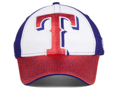 Texas Rangers New Era MLB Youth Shimmer Shine Adjustable Cap