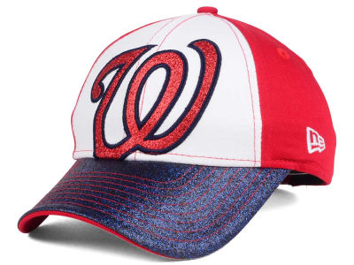 Washington Nationals New Era MLB Youth Shimmer Shine Adjustable Cap