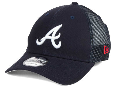 Atlanta Braves MLB Team Trucker Patch 9FORTY Snapback Cap