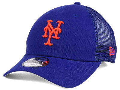 New York Mets MLB Team Trucker Patch 9FORTY Snapback Cap