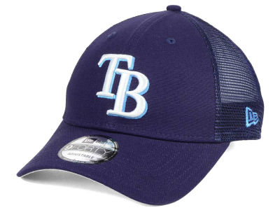 Tampa Bay Rays MLB Team Trucker Patch 9FORTY Snapback Cap