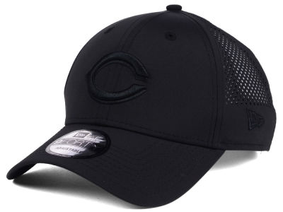 Cincinnati Reds MLB Black/Black Perf Tech 9FORTY Adjustable Cap