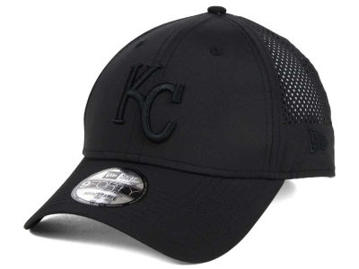 Kansas City Royals MLB Black/Black Perf Tech 9FORTY Adjustable Cap