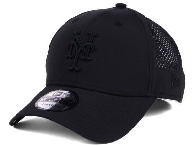 New York Mets MLB Black/Black Perf Tech 9FORTY Adjustable Cap
