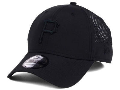 Pittsburgh Pirates MLB Black/Black Perf Tech 9FORTY Adjustable Cap