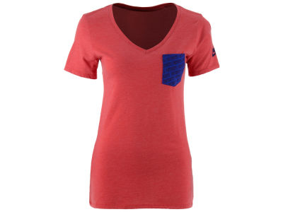 New England Patriots Nike NFL Women's Pocket V-Neck T-Shirt